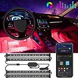 Govee Interior Car Lights, Two-Line Design Car Lights, App & Box Control, Music Sync, RGB, DC 12V