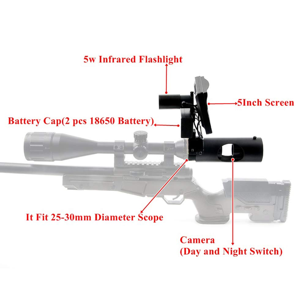 Digital Night Vision Scope for Rifle Hunting with Camera and 5'' Portable Display Screen by bestsight (Image #4)