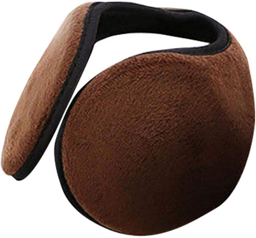 Lucky Direct Earmuffs Winter Equipment Earmuffs Men Winter Solid Color Plush Ear Muffs Earmuffs Warmer Behind The Head Band Black