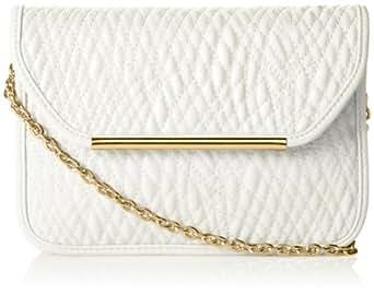Ivanka Trump Crystal Small Shoulder Flap Shoulder Bag,White,One Size