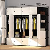 Yigui Portable Clothes Closet Wardrobe Bedroom Armoire Dresser Cube Storage Organizer,Space Saving,Ideal Storage Organizer Cube For Books, Toys, Towels,22 Cubes&4 Hanging Sections