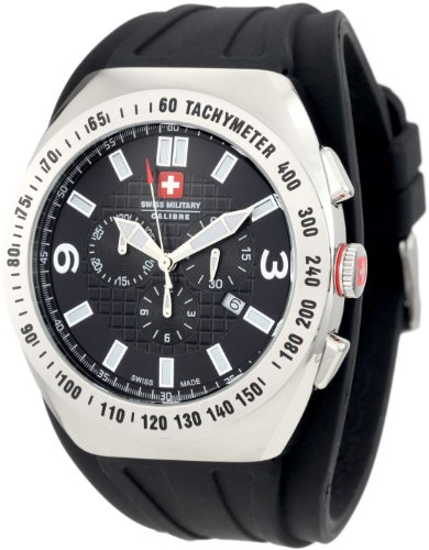 Swiss Military Calibre Men's 06-4C2-04-007R Commando Luminous Black Dial Chrono Tachymeter Watch