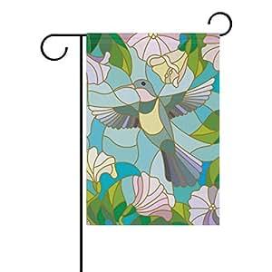 bennigiry colibrí flores jardín bandera 12x 18inch poliéster casa bandera de Jardín bienvenida Decor, Multicolor, 28x40(in)