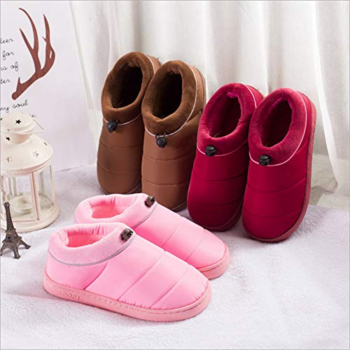 Red Cotton Non Men's Slip amp;KATE Cotton WILLIAM Slippers Wine Thicken Warm Casual Women Couple Home Shoes Indoor Slippers xa0E4w