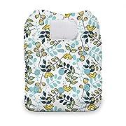 Thirsties One Size All In One Cloth Diaper, Hook & Loop Closure, Birdie