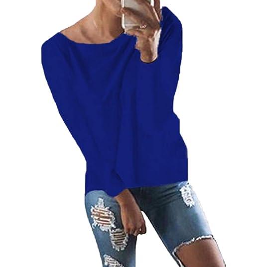 ff4c7b7e0e665f Woweal V Ausschnitt Oberteile Damen Kreuz Pullover Langarmshirts Tops Hemd  Shirt  Amazon.de  Bekleidung