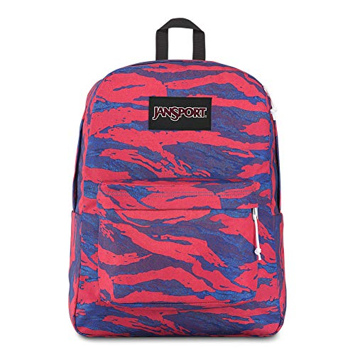 JanSport Black Label Superbreak Backpack - Lightweight School Bag | Camo Glitch Print (Best Child Names 2019)