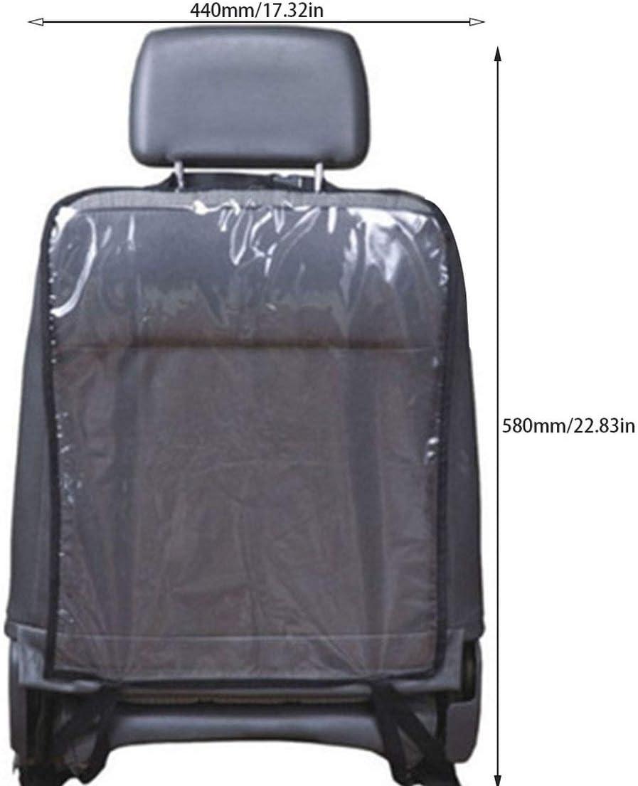Car Auto Back Seat Protector Cover Backseat Organizer pour enfants Kick Mat Mud Clean Backseat si/ège enfant Kick Guard Seat Saver /& couleur: noir