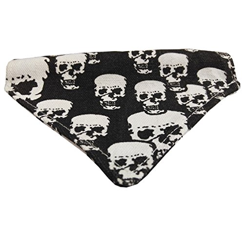 Halloween Costumes Using Bandanas (Pets Accessories Soft Suede Collar Bandana Triangle Bibs Scarfs for Dogs Adjustable (Halloween skull Pattern, L))