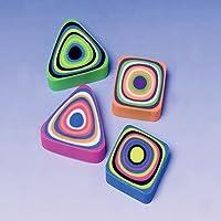 Lot Of 12 Assorted Swirl Design Mini Erasers