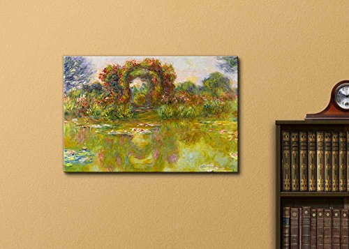 Lily Pond The Roses (Bassin Aux Nympheas Les Rosiers) by Claude Monet Print Famous Painting Reproduction