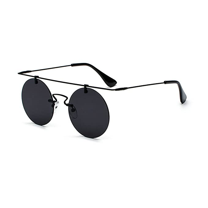 a3e2da4d5d26 Image Unavailable. Image not available for. Color  MINCL 2018 Hot Sale  Rimless punk Sunglasses Womens Mens Vintage Fashion Round Sunglasses UV400