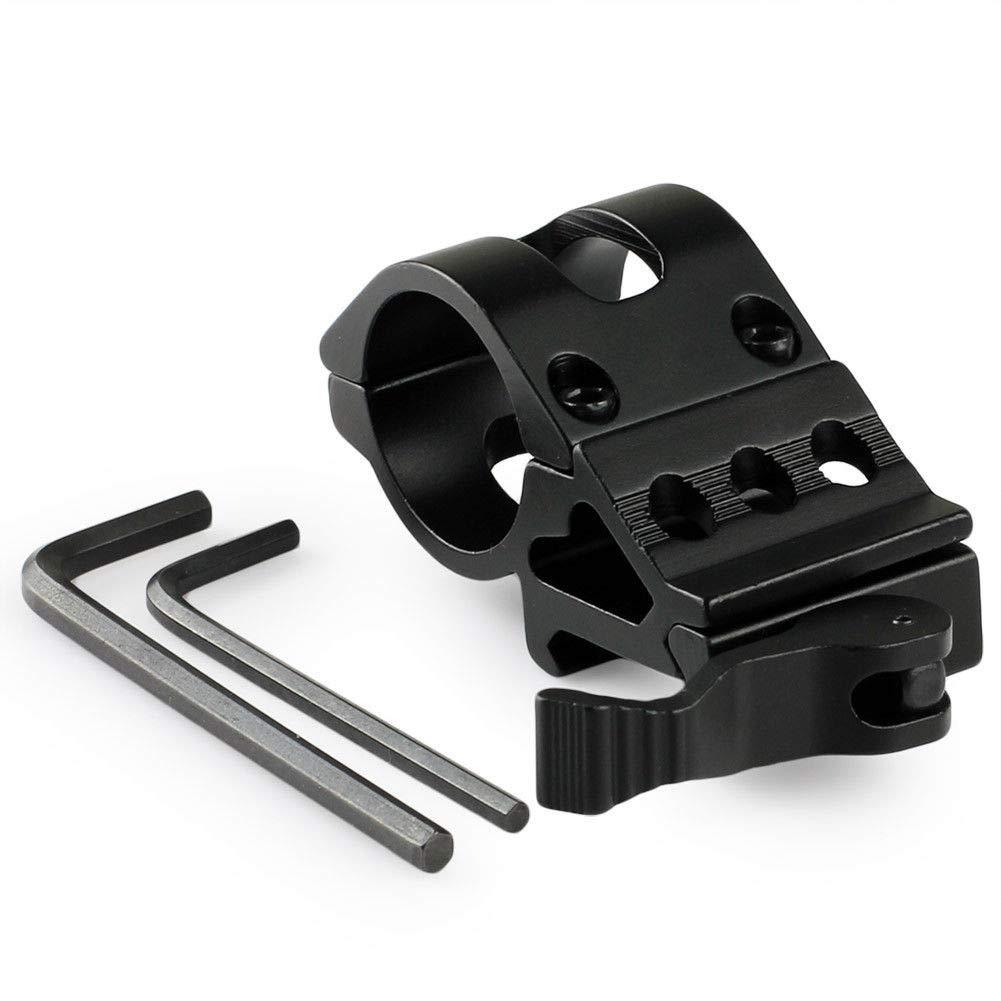 25.4mm Offset Ring 45 Degree Side Picatinny Laser//Flashlight Mount Hunting