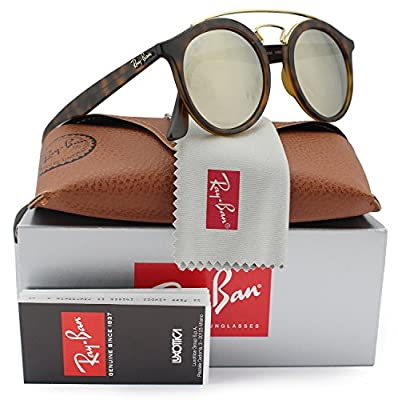 New ORIGINAL Ray Ban RB 4256 60925A GATSBY Havana Frame Gold Mirror