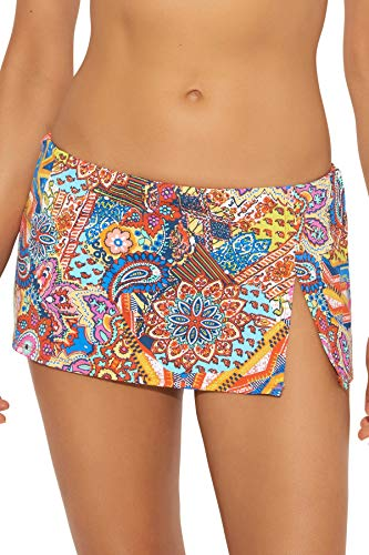 (Bleu Rod Beattie Women's Groovy Baby Skirted Hipster Bikini Bottom Multi 12)