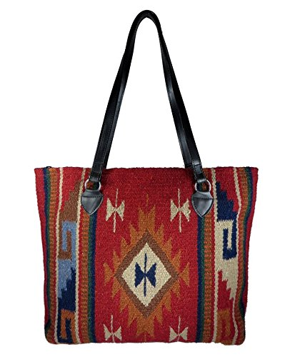 (Southwest Boutique Wool Tote Purse Bag Native American Western Style Handwoven (Durango) )
