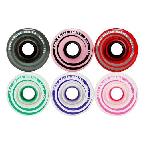 Moxi Gummy/Juicy 78A Indoor or Outdoor Quad Roller Skate Wheels by Riedell Lavendar 8pk by Moxie