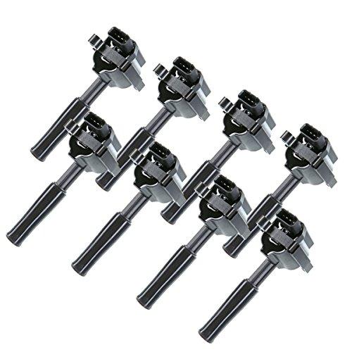 A-Premium Ignition Coils Pack for Jaguar VandenPlas XJ8 XJR XK8 1999-2003 XKR 2000-2002 4.0L 8-PC Set