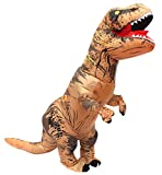 Seasonblow Adult Inflatable T-rex Dinosaur Halloween Suit Cosplay Fantasy Costume Brown