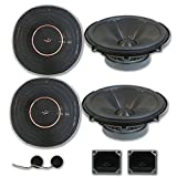 4 x Infinity REF 6520cx 6.5-inch 2-Way Car Audio Component Speakers System 6-1/2' 6520cx