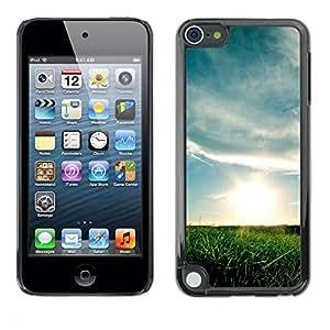 LECELL--Funda protectora / Cubierta / Piel For Apple iPod Touch 5 -- Hermoso prado --