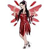 Women's Red Nymph Fairy Costume (Sz: Medium 10-12)
