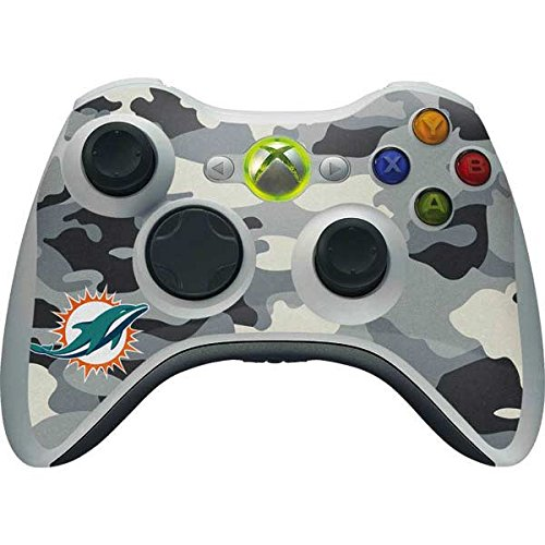 (Skinit NFL Miami Dolphins Xbox 360 Wireless Controller Skin - Miami Dolphins Camo Design - Ultra Thin, Lightweight Vinyl Decal Protection)