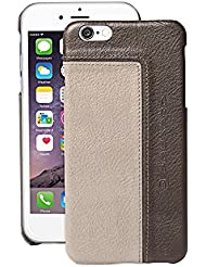 Piquadro 55-Inch iPhone 6 Rigid Leather Shell, Grey/Taupe, One Size