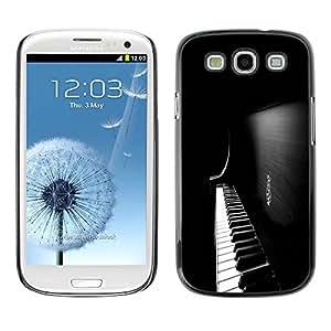 Paccase / SLIM PC / Aliminium Casa Carcasa Funda Case Cover para - Piano Keys - Samsung Galaxy S3 I9300