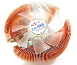 ZALMAN Computer Noise Prevention System with Blue LED Fan and Circular Pure Copper Heatsink CPU Cooler CNPS7000B-CU LED
