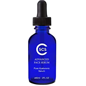 CSCS 100% Pure Hyaluronic Acid Serum - Best Anti Aging Hydrating Moisturizer for Face and Eyes - Reduces & Plumps Fine Lines and Wrinkles While Brightening and Firming Skin - Paraben, Vegan Free, 2 oz