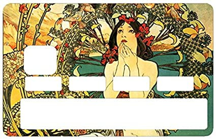 d4369375cbf Amazon.com: Credit Card Sticker, Woman Art Deco - Personalize Your ...
