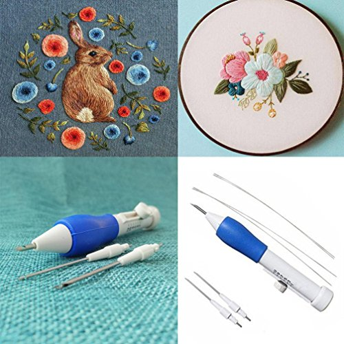 Vovomay Magic Embroidery Pen, Embroidery Needle Weaving Tool Fancy