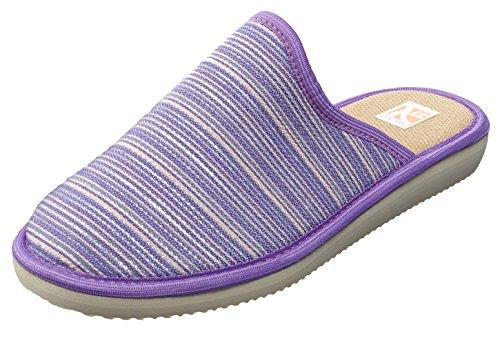 Bosaco Damen Hausschuhe Juwelen Violett 2