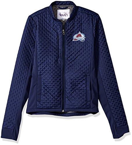 Touch by Alyssa Milano NHL Colorado Avalanche Women's Lead Off Jacket, Navy, Medium
