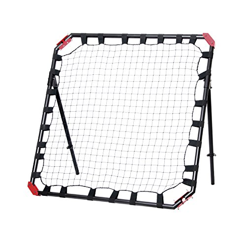 NET PLAYZ Easy Playz Portable Soccer Rebound Net, 4 Ft x 4 Ft, Easy Set Up, Sturdy Metal Tube, with Quick Folding Design, No Assembly Needed! Multi Angle Adjustment, Carry Bag Included