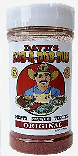 Dave's Rub A Dub Dub Original Seasoning Spice Dry Rub for Meats Seafood Veggies 5 OZ
