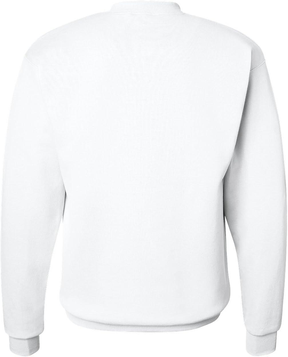 Small Hanes Mens EcoSmart Fleece Sweatshirt 1 Black // 1 Royal Pack of 2