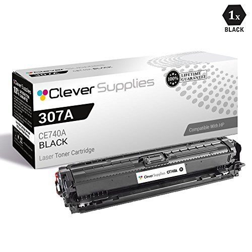 CS Compatible Toner Cartridge Replacement for HP 307A CE740A Black Color Laserjet CP5200 Color Laserjet CP5225 Color Laserjet CP5225dn Color Laserjet CP5225n Color Laserjet CP5220