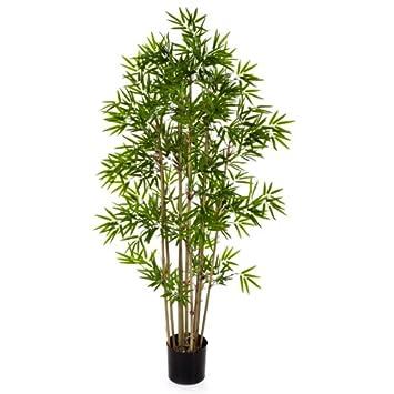 Amazon De Kunstlicher Bambus Yan Mit 480 Kleinen Blattern 80 Cm