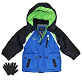 London Fog Boys Midweight Winter Jacket with Fleece Lining and Gloves