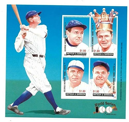 (Babe Ruth - Famous Baseball Players - Rare Collectors Stamps - Antigua)