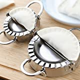 Chinese Dumpling Maker Tool, 2 Stainless Steel Sets, Large And Small Mold Machine For Dough And Pastry, Asian Round Wrapper Press For Kitchen