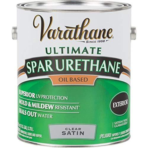 RUST-OLEUM 9332 Varathane Gallon Satin Exterior Spar Urethane (Polyurethane Outdoor)