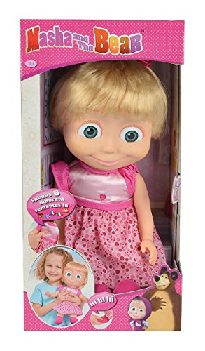 Masha and the Bear - Masha 16'' 40cm Masha Talking Doll (English and Multi-language)