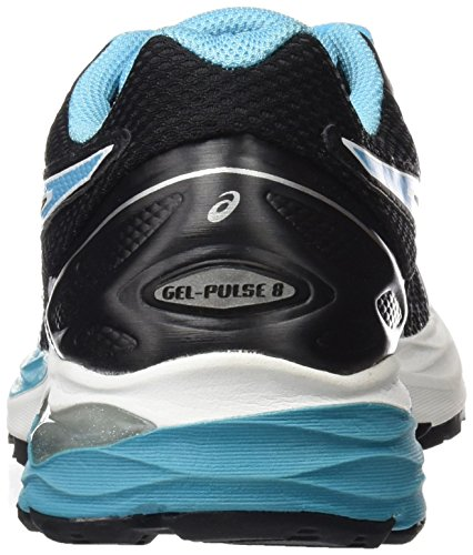 Asics Gel-pulse 8 - zapatos de entrenamiento de carrera en asfalto Mujer Multicolore (Black/Aquarium/White)