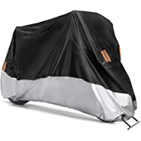 COFIT Funda para Moto, Cubierta de Motoa Impermeable, Anti Viento Polvo UV Lluvia Humedad Protector con Agujeros de…