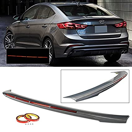 Amazon com: Rear Spoiler For 2017-2018 Hyundai Elantra 4 Door Boot