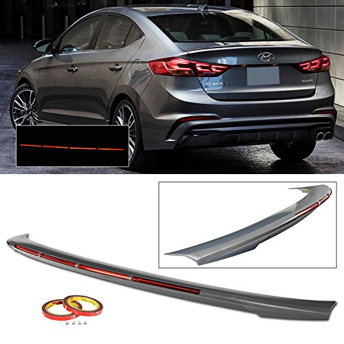 Rear Spoiler For 2017-2018 Hyundai Elantra 4 Door Boot Trim Exterior Trunk Lip