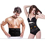 Waist Trimmer Belt for Men and Women,Waist Trimmer Belt Sauna Belly Sweat Tummy Fat Burner Slimming...